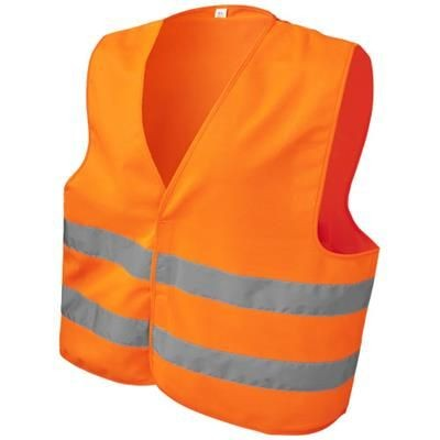 SEE-ME-TOO XL SAFETY VEST FOR NON-PROFESSIONAL USE in Neon Fluorescent Orange.