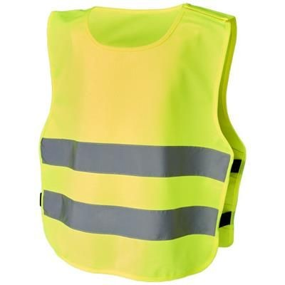 MARIE XS SAFETY VEST with Hook&loop for Childrens Age 7-12 in Neon Fluorescent Yellow.