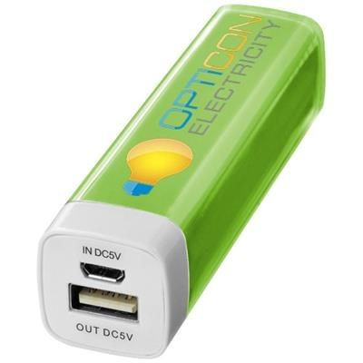 FLASH 2200 MAH POWER BANK in Lime.