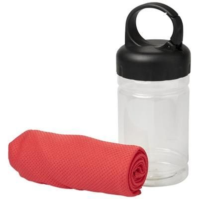 REMY COOLING TOWEL in Pet Container in Red.
