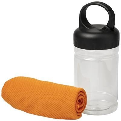REMY COOLING TOWEL in Pet Container in Orange.