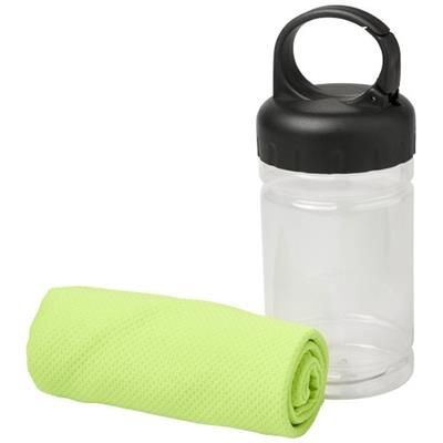 REMY COOLING TOWEL in Pet Container in Lime.