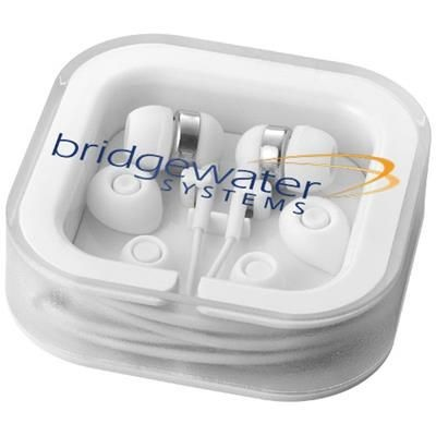 SARGAS EARBUDS with Microphone in White Solid.