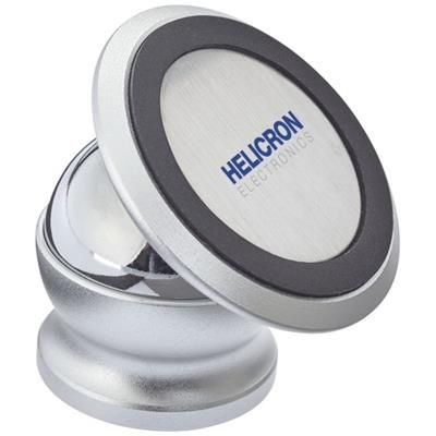 ROYCE ROTATABLE MAGNETIC SMARTPHONE MOUNT in Silver.