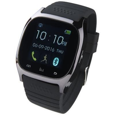PRIXTON SW16 SMARTWATCH in Solid Black.