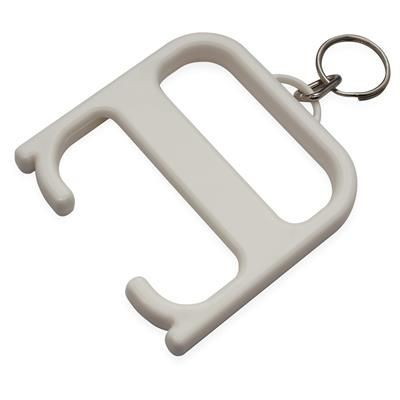 HYGIENE HANDLE with Keyring Chain in White Solid.