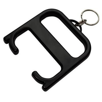 HYGIENE HANDLE with Keyring Chain in Black Solid.