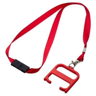 HYGIENE HANDLE with Lanyard in Red.