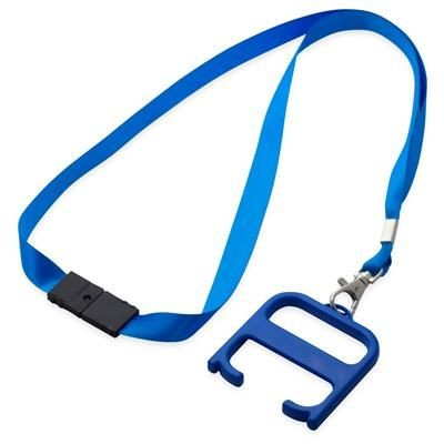 HYGIENE HANDLE with Lanyard in Royal Blue.