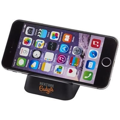 CRIB PHONE STAND in Black Solid.