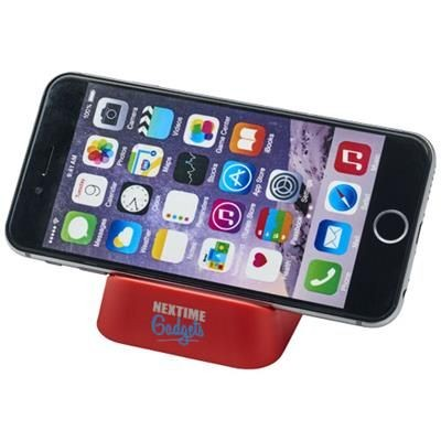 CRIB PHONE STAND in Red.
