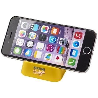 CRIB PHONE STAND in Yellow.
