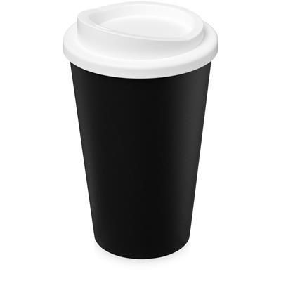 AMERICANO ECO 350 ML RECYCLED TUMBLER in Black Solid & White Solid.