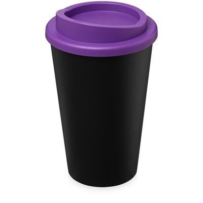 AMERICANO ECO 350 ML RECYCLED TUMBLER in Black Solid & Purple.