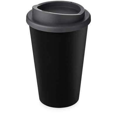 AMERICANO ECO 350 ML RECYCLED TUMBLER in Black Solid & Grey.