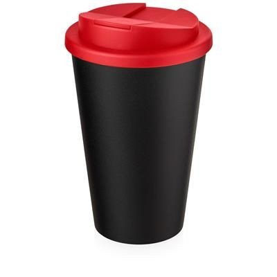 AMERICANO ECO SPILL PROOF in Red & Black Solid.