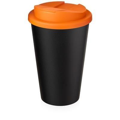 AMERICANO ECO SPILL PROOF in Orange & Black Solid.