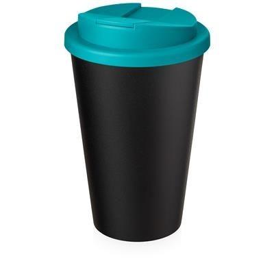 AMERICANO ECO SPILL PROOF in Aqua Blue & Black Solid.