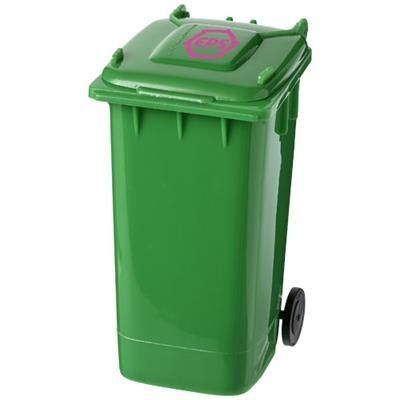WHEELIE BIN PEN HOLDER in Green.