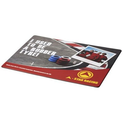 BRITE-MAT® MOUSEMAT with Tyre Material in Black Solid.