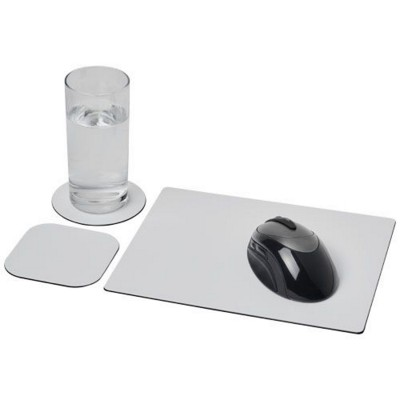 BRITE-MAT® MOUSEMAT AND COASTER SET COMBO 1 in Black Solid.