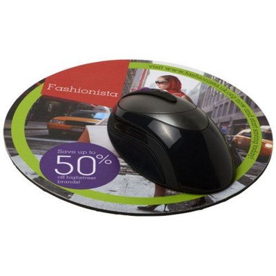 Q-MAT® ROUND MOUSEMAT in Black Solid.