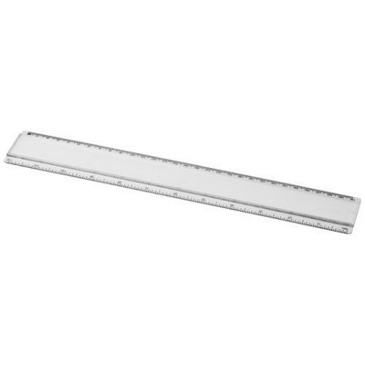 ELLISON 30 CM PLASTIC RULER with Paper Insert in Transparent Clear Transparent.