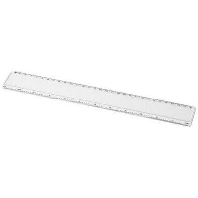 ELLISON 30 CM PLASTIC RULER with Paper Insert in White Solid.