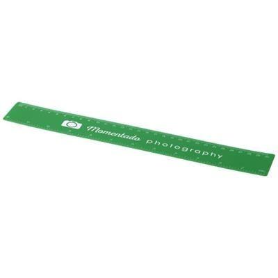 ROTHKO 30 CM PLASTIC RULER in Green.