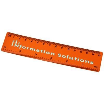 ROTHKO 15 CM PLASTIC RULER in Orange.