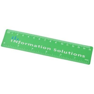 ROTHKO 15 CM PLASTIC RULER in Frosted Green.
