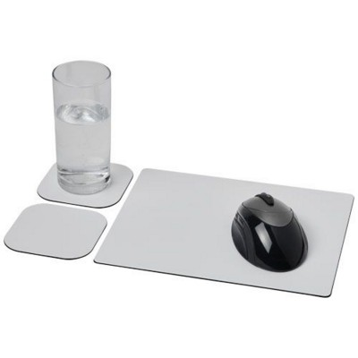 BRITE-MAT® MOUSEMAT AND COASTER SET COMBO 3 in Black Solid.
