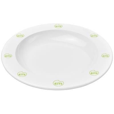 PAX ROUND PLASTIC PLATE in White Solid.
