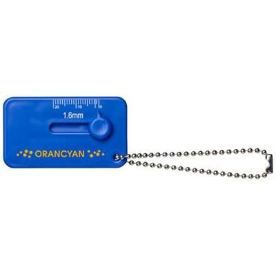 KEPI TYRE TREAD CHECK KEYRING in Blue.