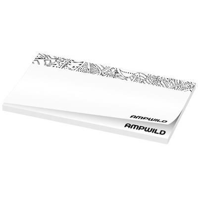 BUDGET STICKY-MATE® STICKY NOTES 127X75 in White Solid.