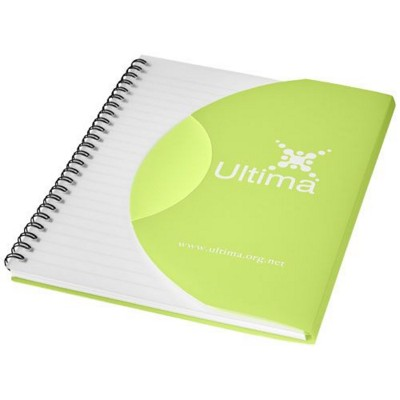CURVE A5 NOTE BOOK in Frosted Green-black Solid.