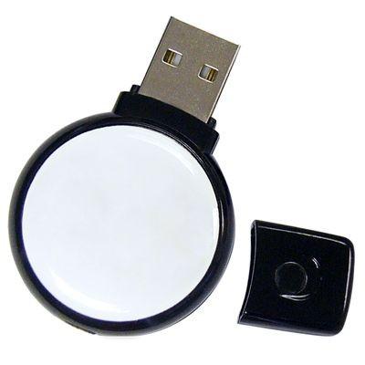 CIRCLE FULL COLOUR USB FLASH DRIVE MEMORY STICK.