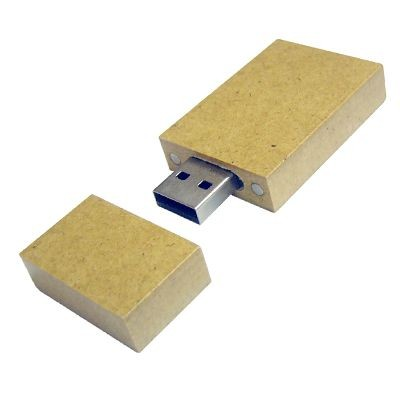 RECYCLED PAPER 2 USB FLASH DRIVE MEMORY STICK.