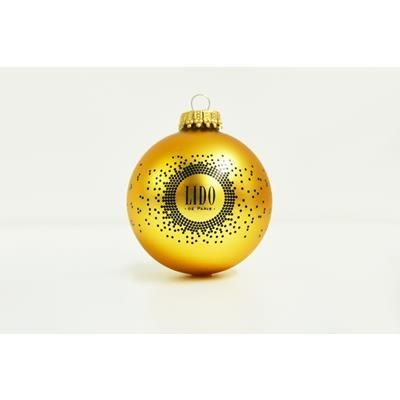 GLASS CHRISTMAS TREE BAUBLE 70MM.