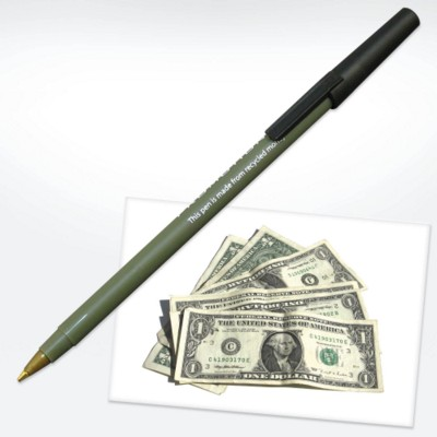 GREEN & GOOD MONEY PEN in Green.