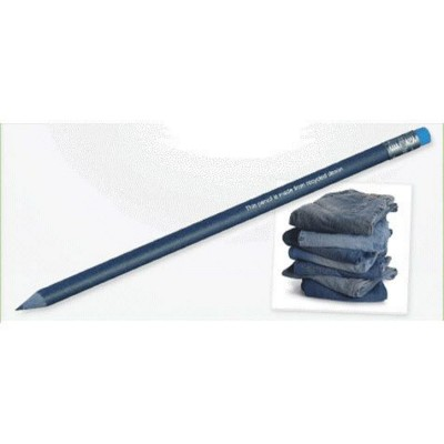GREEN & GOOD RECYCLED DENIM PENCIL with Eraser.