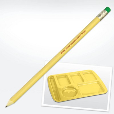 GREEN & GOOD RECYCLED PLASTIC LUNCHTRAY PENCIL with Eraser.