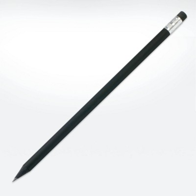 GREEN & GOOD SUSTAINABLE WOOD ECO PENCIL in Black with Eraser.