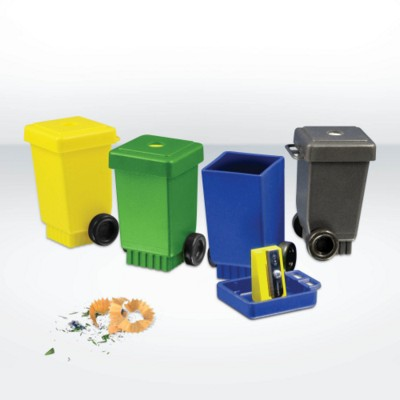 GREEN & GOOD RECYCLED PLASTIC WHEELIE BIN SHARPENER.