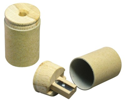 GREEN & GOOD RECYCLED CARD PENCIL SHARPENER in Natural.
