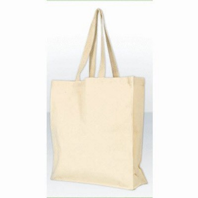 GREEN & GOOD WREXHAM 10OZ UNBLEACHED CANVAS SHOPPER TOTE BAG in Natural.