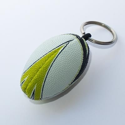 RUGBY BALL KEYRING.
