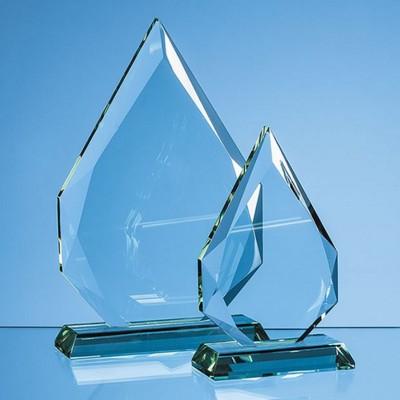 JADE GLASS FACETTED DIAMOND PEAK AWARD.