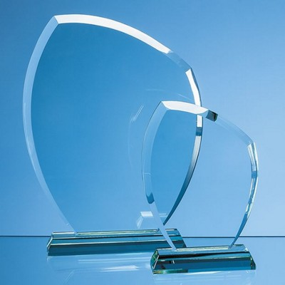 JADE GLASS AUTUMN LEAF AWARD.