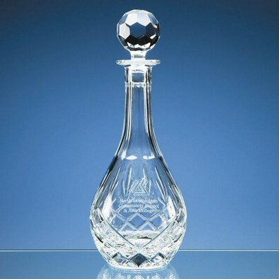 BLENHEIM LEAD CRYSTAL PANEL WIN DECANTER.